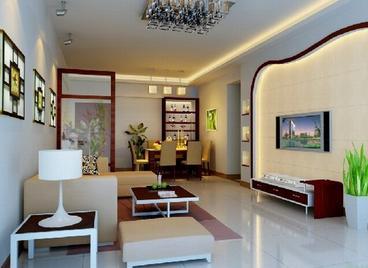 供应北京家庭装修电视墙吊顶客厅装修图片