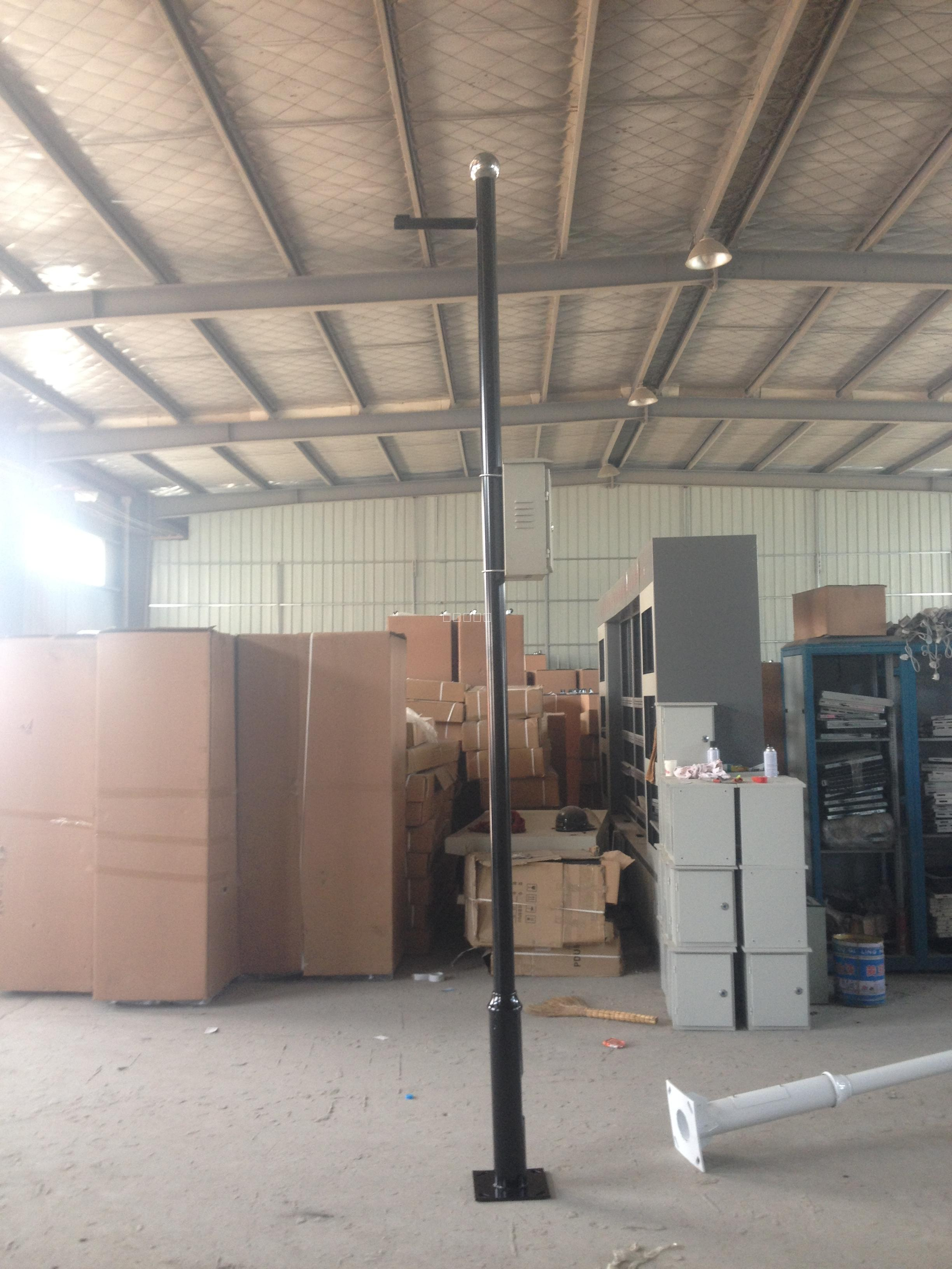 供应合肥监控立杆和县路灯杆机柜操作台厂家直供电话