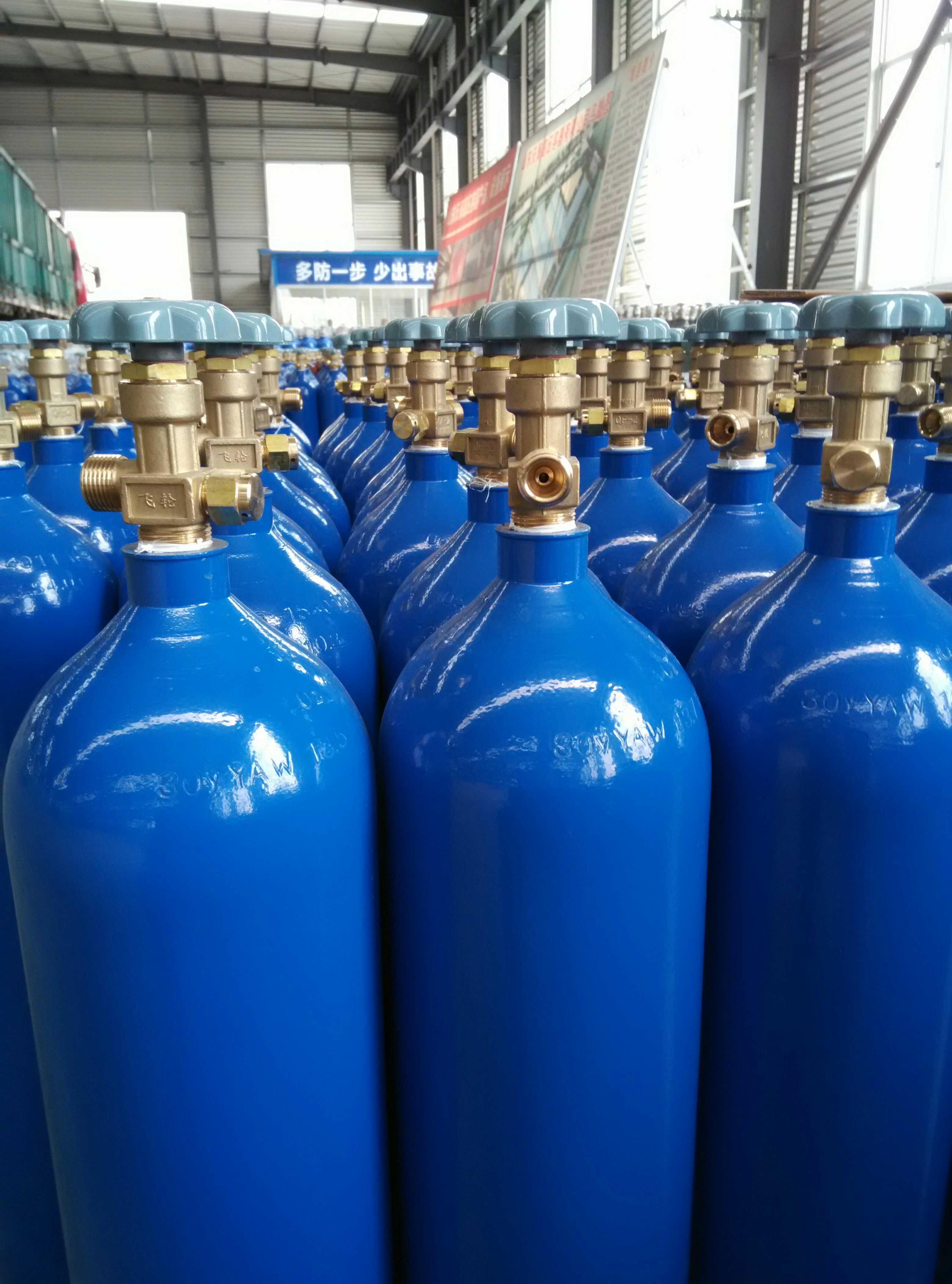 供应山东永安牌40升氧气瓶氮气瓶氢气瓶二氧化碳瓶氦气瓶氖气瓶六氟化硫瓶