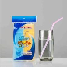 供应用于饮料吸管的双童荧光色可弯艺术吸管70080四色图片