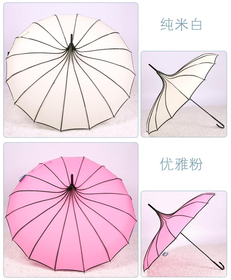 高尔夫雨伞结构图