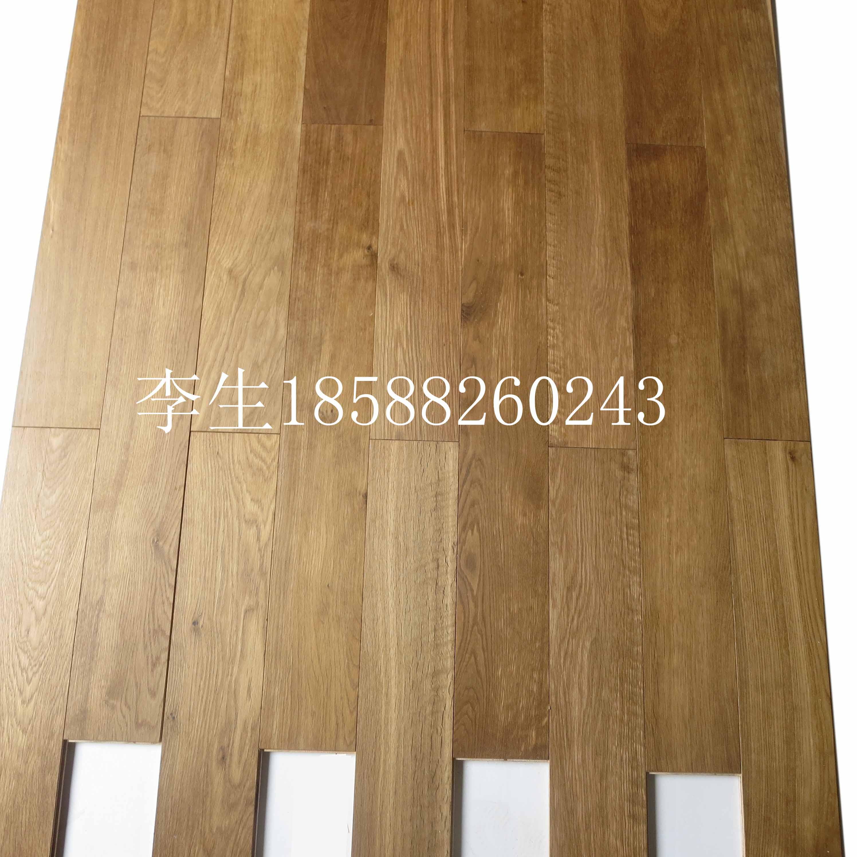 欧洲橡木烟熏地板棕色烟熏多层地板报价
