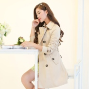 欧美大衣外套中长款女式风衣小西装图片