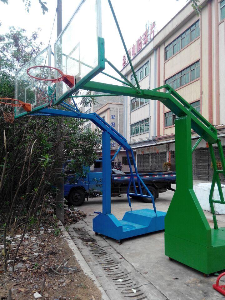 深圳篮球架,XJ-1005NBA透明挡板移动篮球架