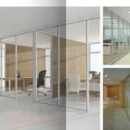 单玻高隔墙办公室玻璃隔断铝合金图片