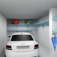 车库置物架厨房微波炉架图片