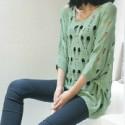 供应广州时尚韩版女装短款毛衣库存批发 十三行时尚女式针织衫批发