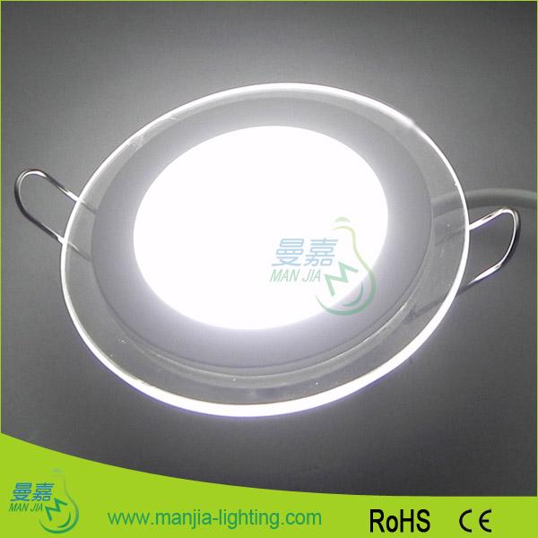 led高亮18w圆形玻璃面板灯工程装修图片|led高亮18w