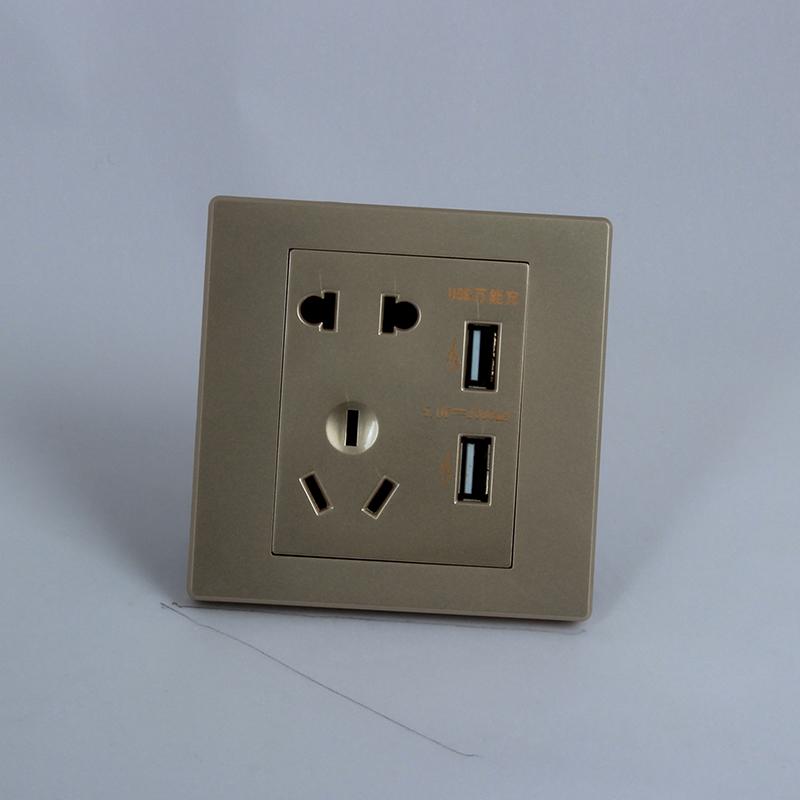 带usb五孔墙壁插座面板苹果手机批发