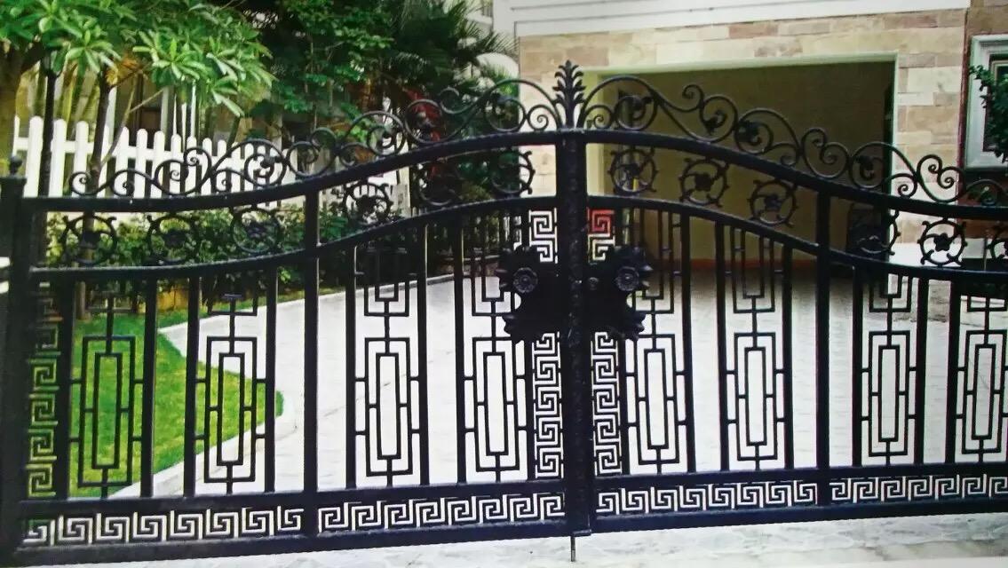 中式前卫别墅铁艺大门