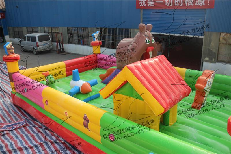 供应熊出没充气城堡 大型充气城堡多少钱 喜羊羊充气城堡儿童充气蹦蹦床室内小型游乐设备