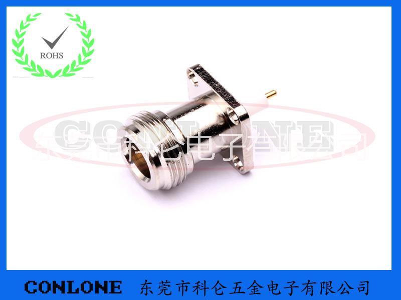 供应用于的N-KFD带法兰板射频连接器,N型带法兰板射频插座,N-KFD,N型母座功分器插座