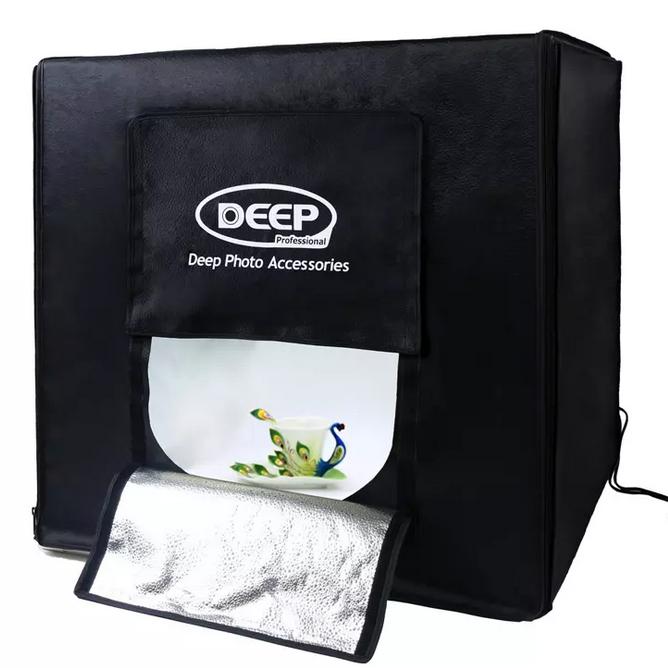 供应DEEP新一代LED80摄影灯箱摄影灯箱柔光摄影棚摄影灯套装套装摄影器材拍照道具方形