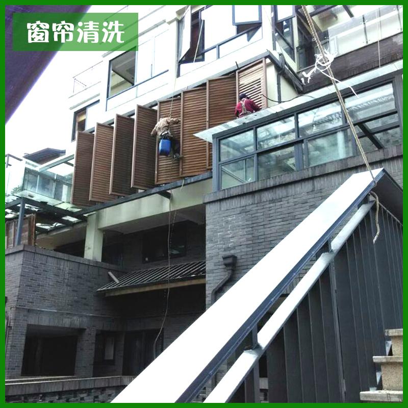 供应重庆杨家坪玻璃幕墙清洗图片