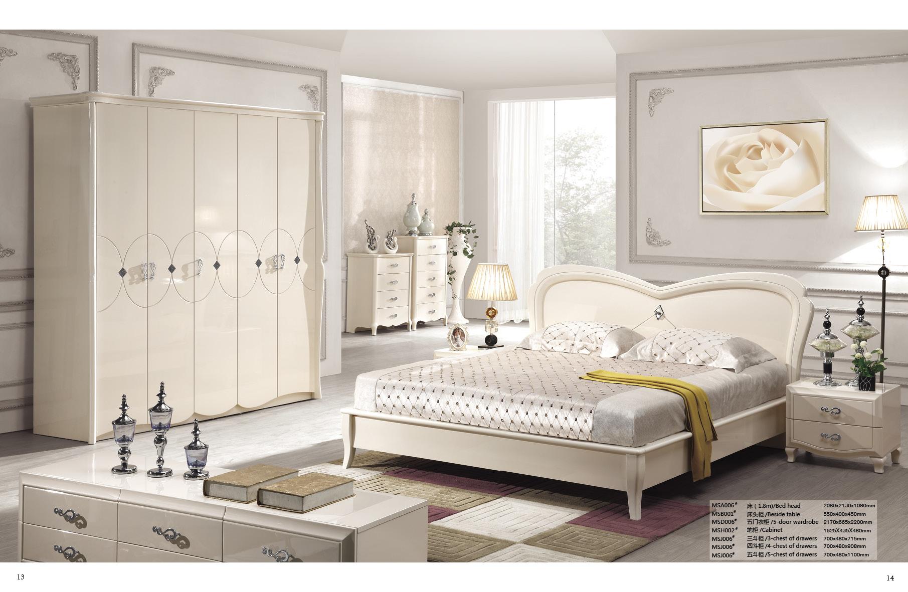 供应用于卧房的佛山市顺德简欧家具简欧床加床头柜
