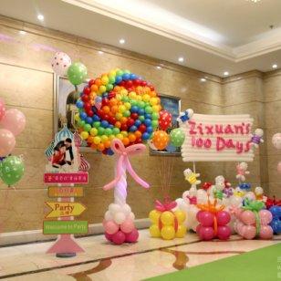 个性百日宴/气球百日宴/气球装饰图片