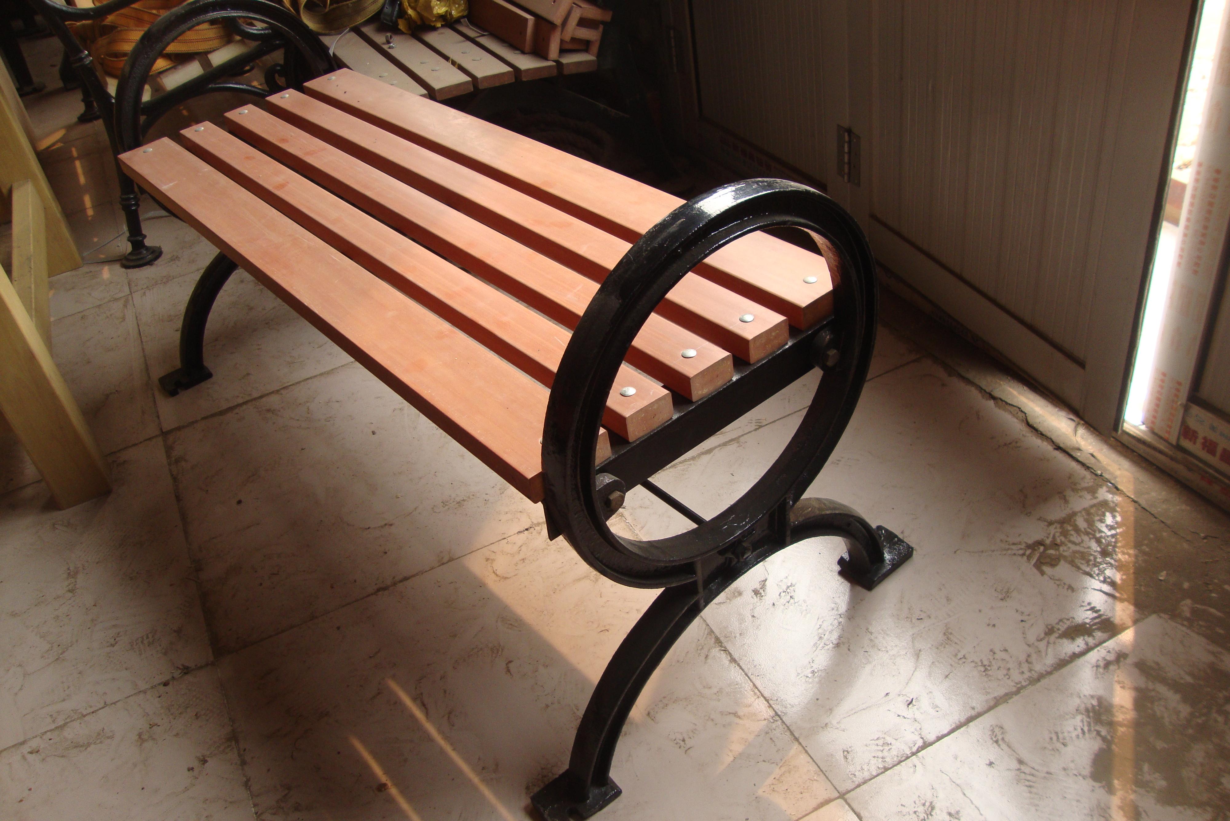 户外休闲座椅,铸铁椅脚
