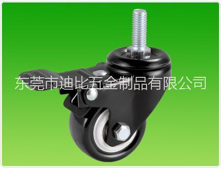 2寸小金刚螺杆PU刹车轮  2寸小金刚螺杆PU刹车轮厂家批发