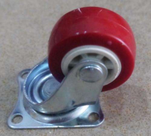1.5寸红色PVC万向轮 1.5寸轻型红色PVC万向轮厂家直销