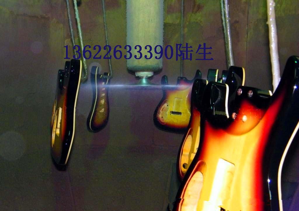 供应吉他外壳全自动静电喷漆线、乐器产品自动化静电喷漆设备、吉他配件自动喷漆生产线