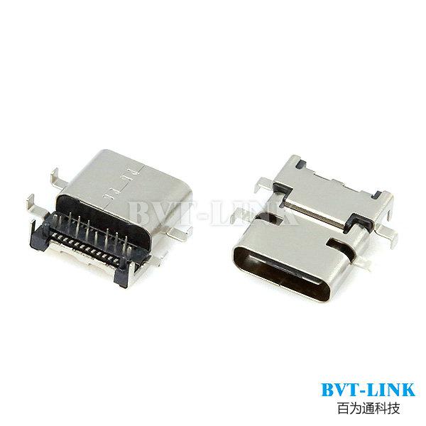 深圳厂家USB3.1 沉板式母座 USB C TYPE沉板式母座
