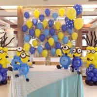 小黄人气球造型/成都气球百日宴