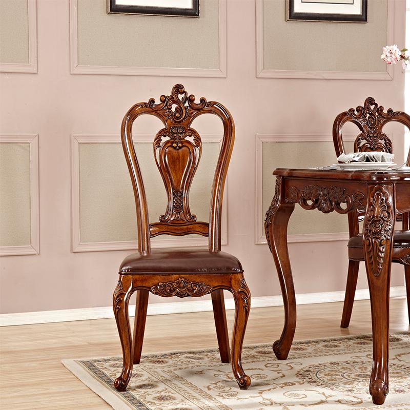 供应美式乡村风格餐椅 实木雕花餐椅子 美式休闲椅 咖啡椅酒店餐厅椅
