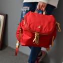 百搭尼龙女士双肩包学生包背包图片