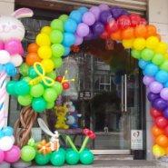 卡通动物主题气球装饰/气球百日宴图片
