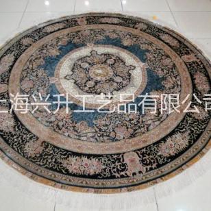 供应手工真丝地毯圆形玄关钢琴地毯图片