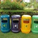 惠州公园垃圾桶  公园玻璃钢垃圾桶供应商 艺术垃圾桶