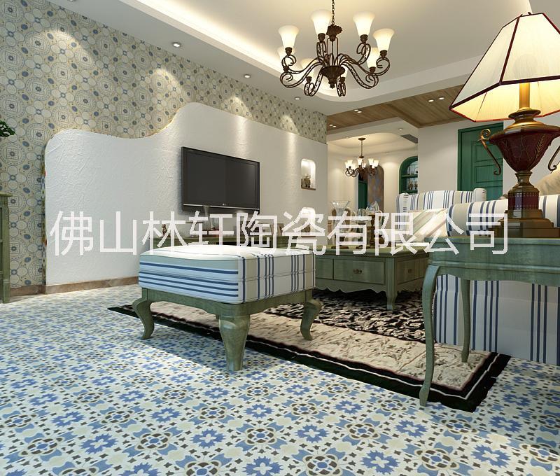 供应水泥色拼花瓷砖地板砖200*200 瓷砖 背景墙 玄关拼图拼花 水泥