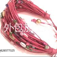 各种饰品手链项链串珠点钻编织加工图片
