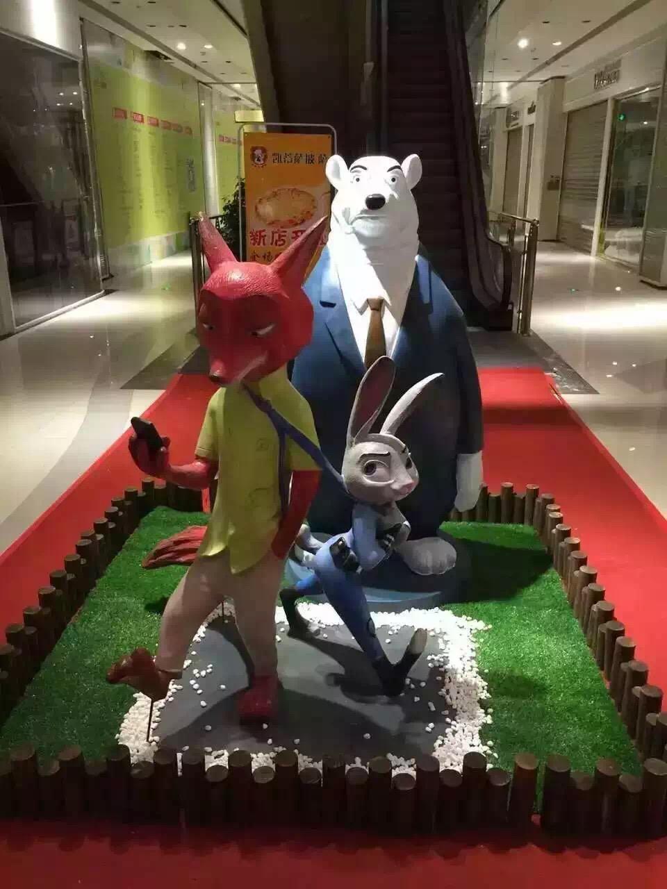 海北疯狂动物城雕塑模型道具出售价图片大全