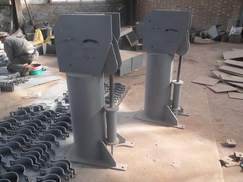 413槽钢加强板  六角螺母 循环水托座 3米循环水托座价格 槽钢用方斜垫圈 恒力碟簧支吊架