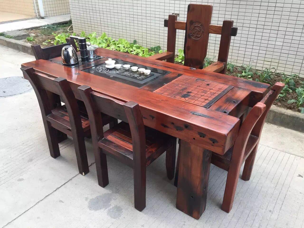 船木茶桌图片/船木茶桌样板图