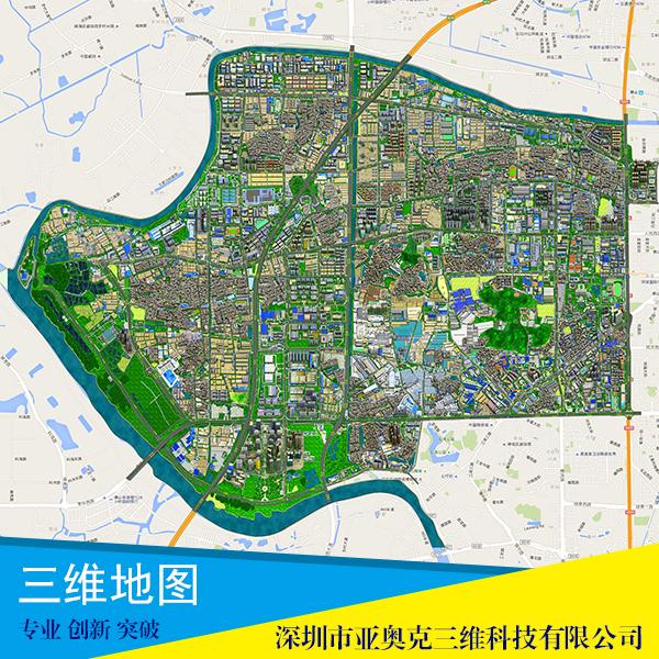 供应三维地图制作公司 三维地图 三维导航图 360度三维全景图