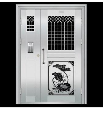 供应辽宁白钢门厂家 不锈钢防盗门 标准白钢门报价