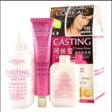 欧莱雅染发套装可丝莹 健康无氨 染发剂 多色选 内含养护膏批发