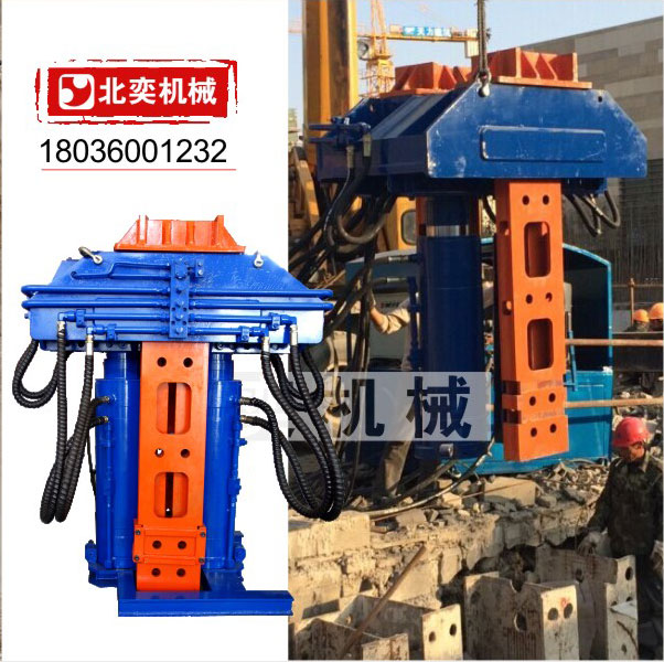 H型钢板液压引拔机 工字型钢板桩 江苏哪有拔桩机买 双油缸 双顶