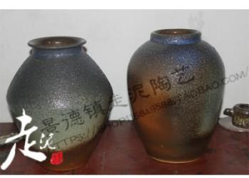 无锡走泥陶艺桌面古典花瓶家具摆件图片