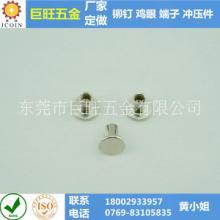 供应用于连接紧固的平头半空心铁铆钉
