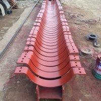 供应用于电力管道的G56夹柱悬壁支架 批发焊缝加强板 导向管托 保温管托生产厂家
