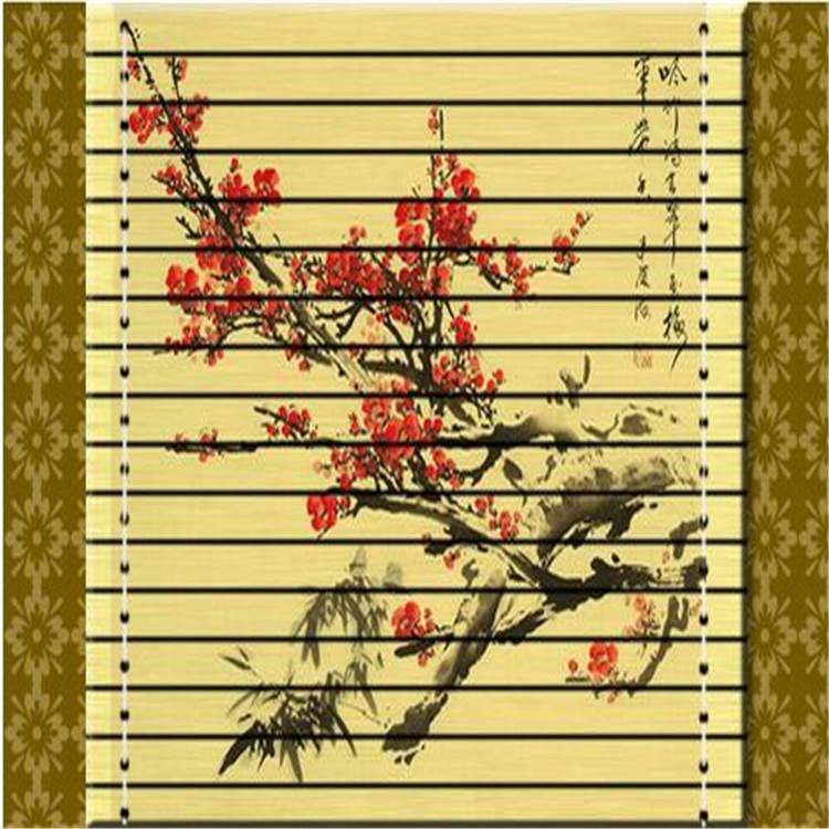 供应用于竹席打印机的梅花竹席印花图案打印机