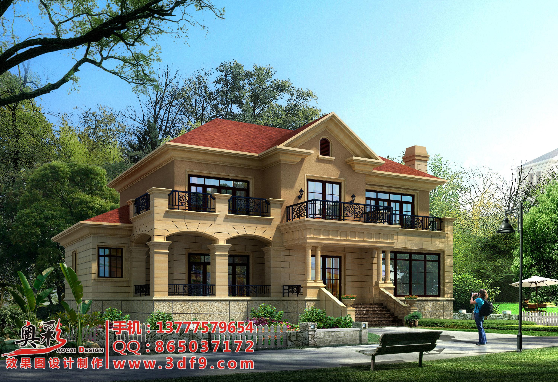 供应别墅外墙瓷砖装修效果图设计图片