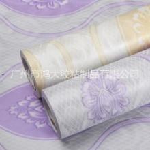 PVC防水自粘墙纸 加厚 欧式 大马士革卧室壁纸