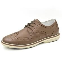 英伦布洛克休闲鞋 低帮系带舒适男鞋高档男士真皮鞋青春潮鞋