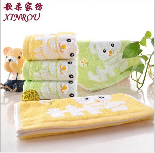 纯棉小熊童巾销售