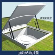 中国石化加油站油井盖 推拉式带滑道可推动井盖 镀锌板掀起式油井盖 卸油口井盖