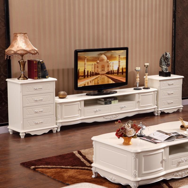 欧式美式大理石茶几电视柜组合套装客厅办公家具地柜